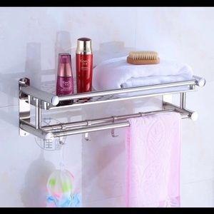 Stainless Steel Towel Rail Shower Shelf